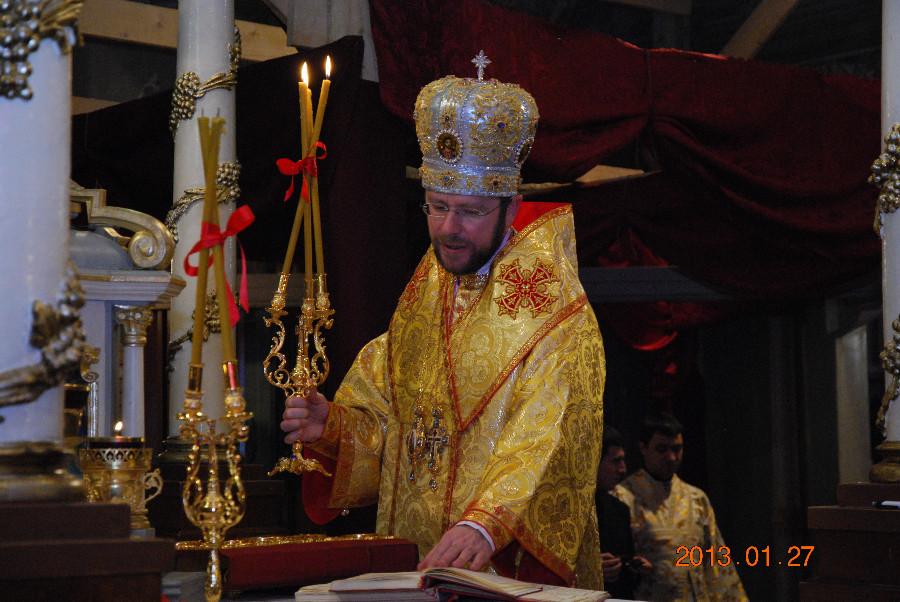Єпископ Ніл відслужив Літургію українською мовою