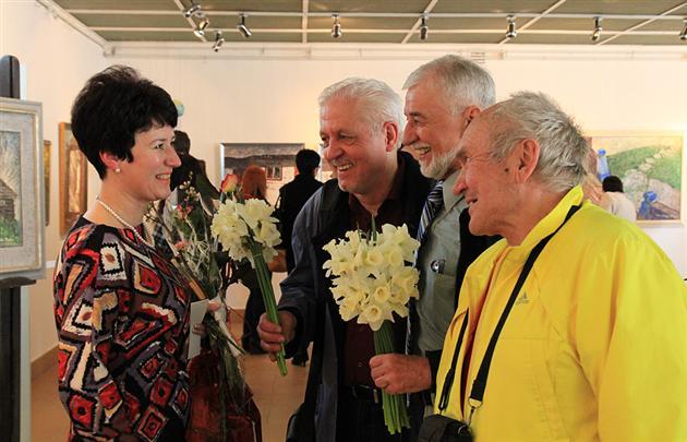 Ювілейна виставка Одарки Долгош відкрилася в Ужгороді
