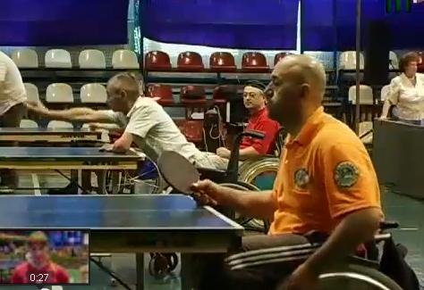 В Ужгороді інваліди провели тенісний турнір (відео)