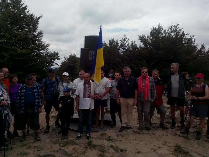 Геннадій Москаль підкорив вершину на межі трьох держав (ФОТО)