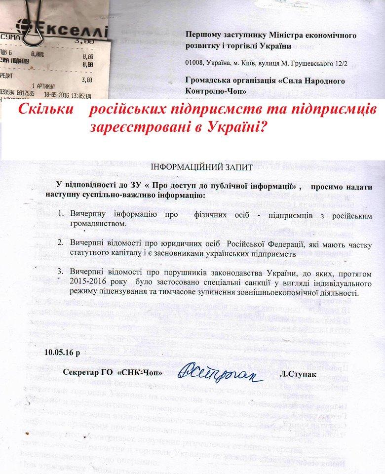 Закарпатська правозахисниця встановила повний список російських підприємств, які працюють в Україні (ДОКУМЕНТ)