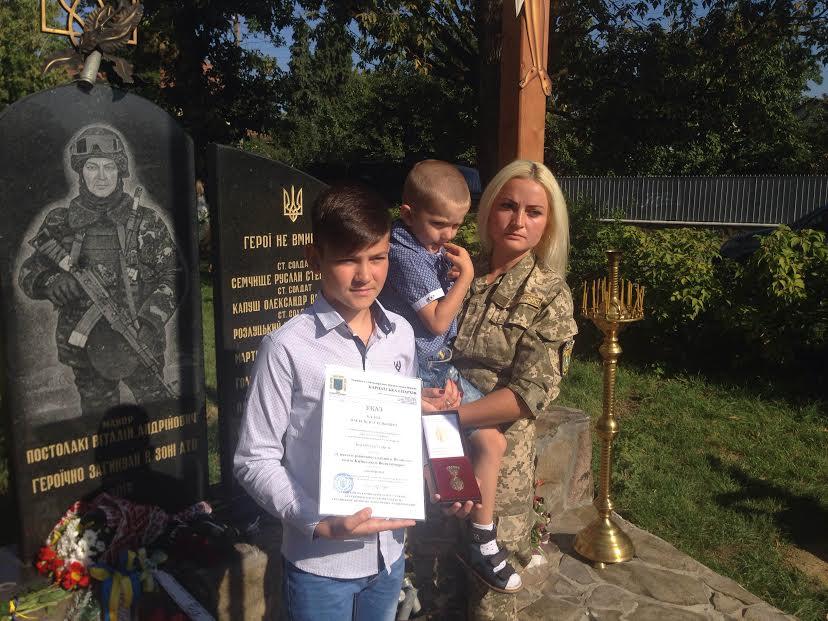В Ужгороді вшанували пам'ять загиблого під Луганськом офіцера (ФОТО)