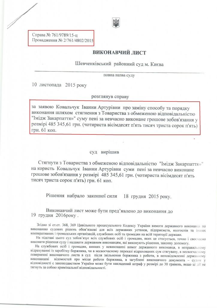 Закарпатську виконавчу службу звинуватили у впровадженні донецько-луганської схеми (ДОКУМЕНТ)