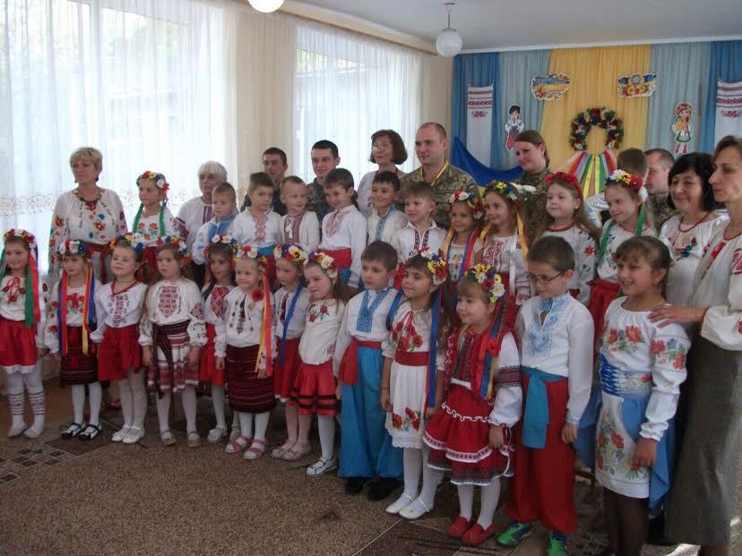 Ужгородські ветерани АТО зустрілися з дошкільнятами (ФОТО)