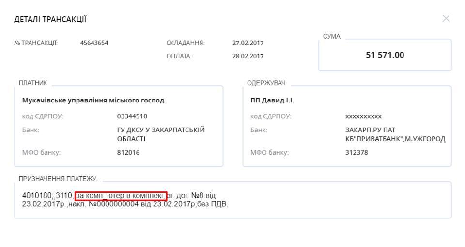 Мукачівські чиновники закупляють ігрові компи для міськради (ДОКУМЕНТ)