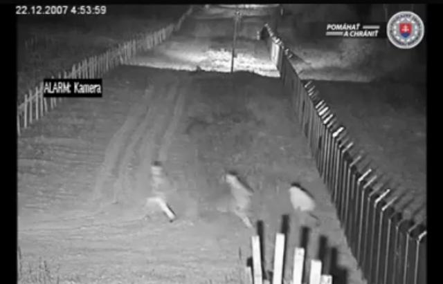Поліція Словаччини оприлюднила відео нелегального переходу кордону із Закарпаття (відео)