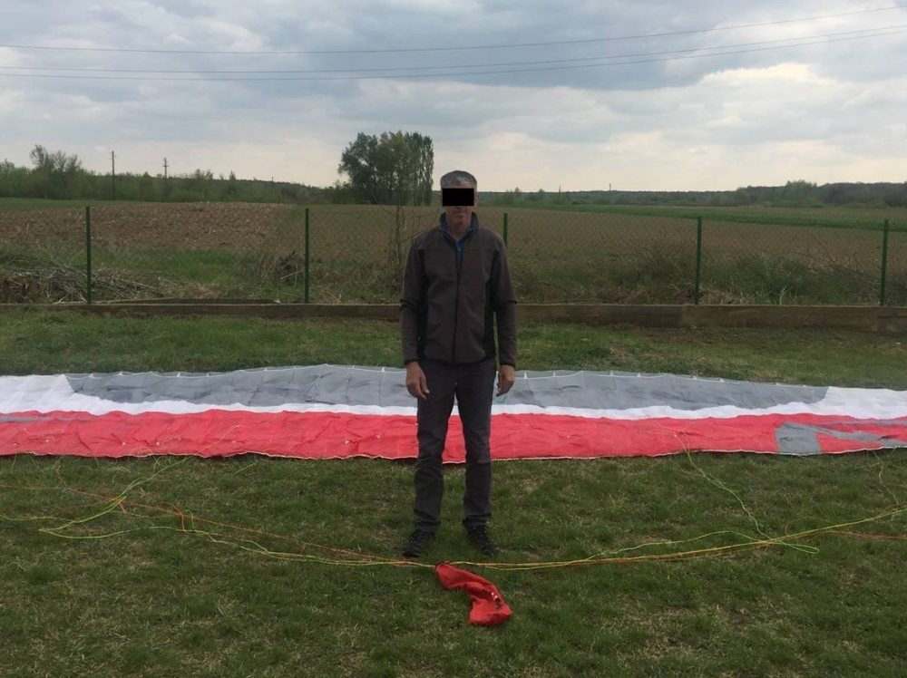 На Закарпатті прикордонники затримали парашутиста, який  порушив кордон