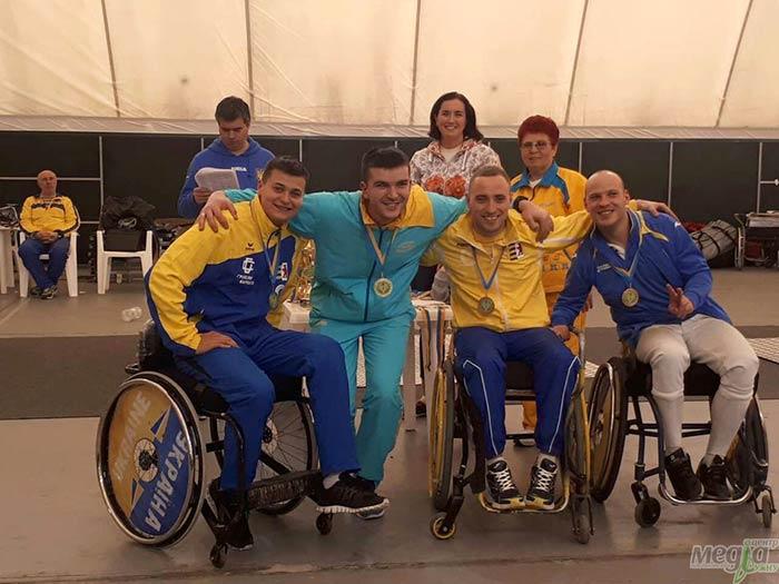 Шість медалей на Кубку України вибороли закарпатські фехтувальники-паралімпійці
