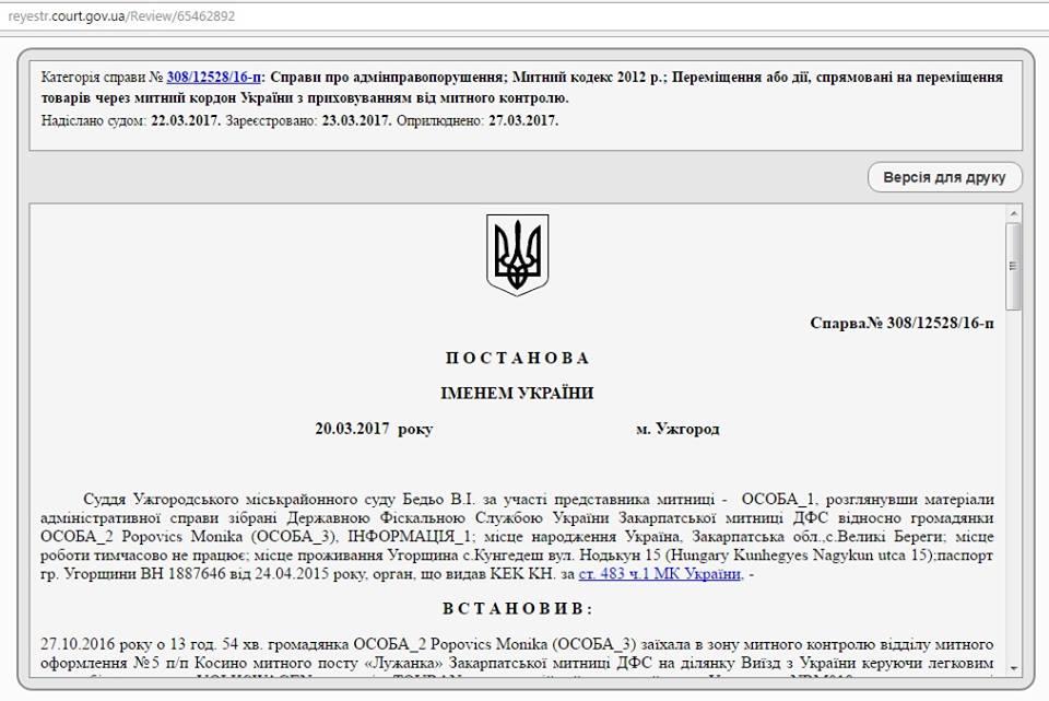 Соцмережі стверджують, що на голову закарпатського села Великі Береги балотується громадянка Угорщини (документ)