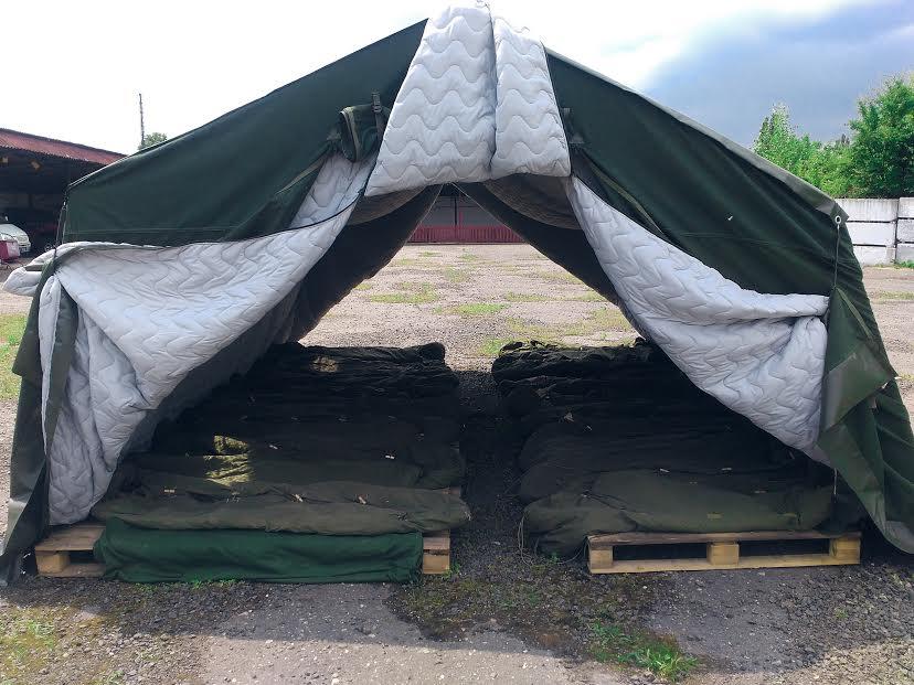 Закарпатські підрозділи територіальної оборони отримали нові палатки для проведення навчань