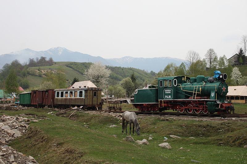 На Закарпатті впроваджується пілотний проект із введення  в експлуатацію історичного потягу на Боржавській вузькоколійці
