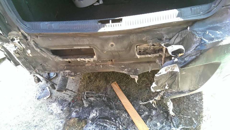 Ужгородському адвокату підпалили автівку (фото)