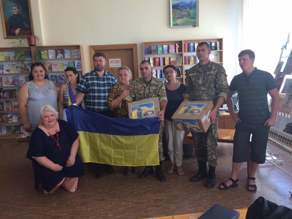 В Мукачівській бібліотеці відбулася зворушлива зустріч з учасниками АТО (фото)