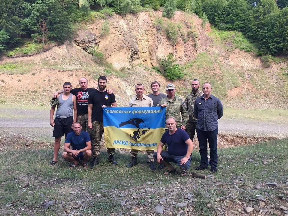Закарпатські атовці встановили хрест на одній з найвищих точок Іршавщини (фото)