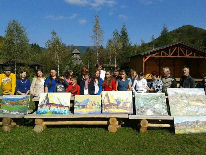 Імениті художники України провели майстер-клас для учнів на території Ужанського нацпарку (фото)