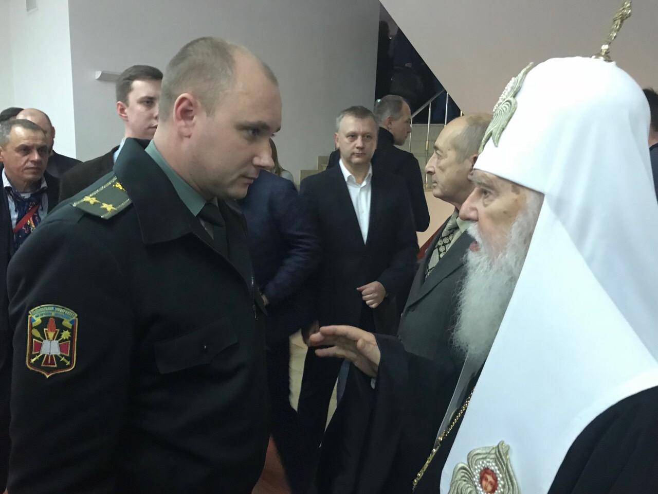 Патріарх Філарет благословив закарпатського підполковника Миколу Журавльова (фото)