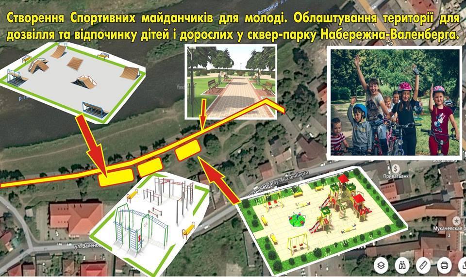 Облаштування Парк Валенберга Мукачево