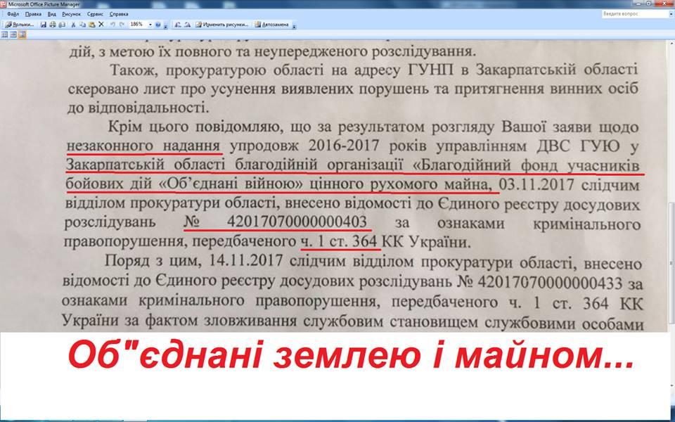 """Закарпатська прокуратура розпочала кримінальне провадження за фактом роздачі """"шарового"""" конфіскату чиновниками ДВС"""
