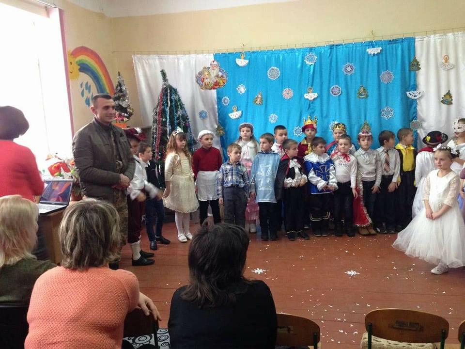 На Іршавщині ветерани АТО привітали учнів молодших класів (фото)