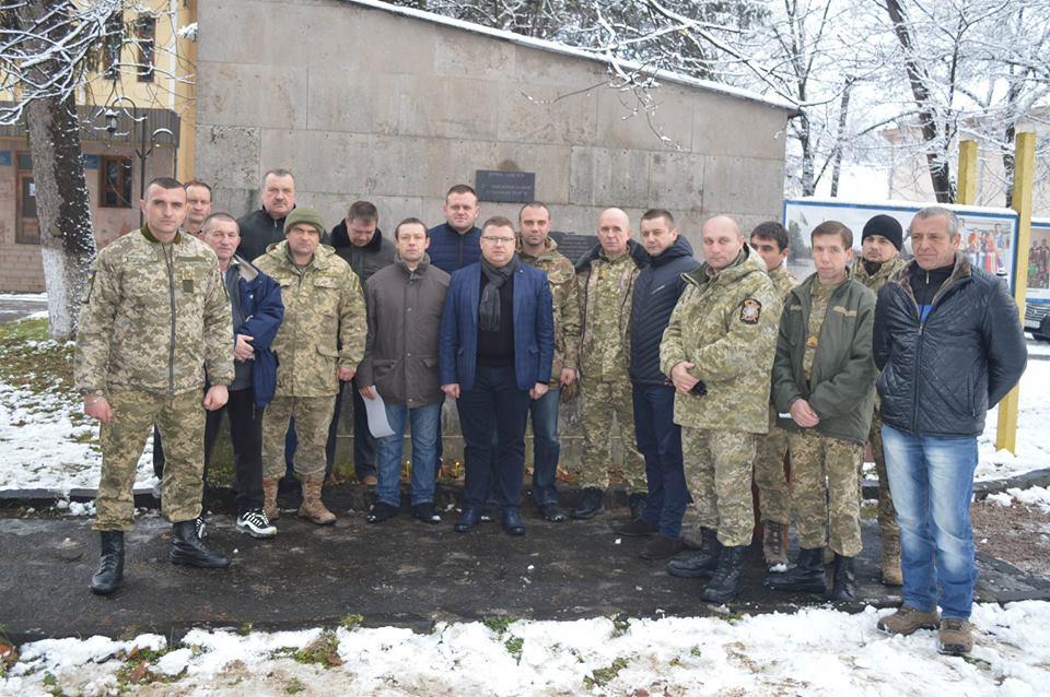 В Іршаві до Дня ЗСУ відкрили пам'ятні дошки загиблим учасникам АТО (фото)