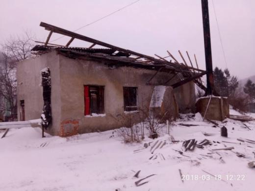На Перечинщині негода зруйнувала дах шкільної котельні