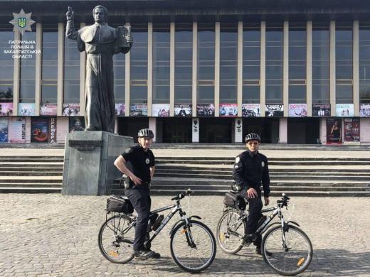 В Ужгороді та Мукачеві заступив на службу велопатруль