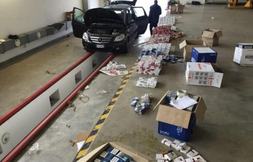 Через кордон на Закарпатті італієць намагався перевезти контрабандні сигарети