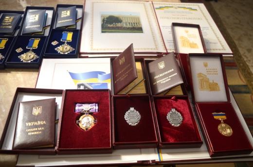 Закарпатцям вручили президентські, урядові та обласні нагороди (ФОТО)