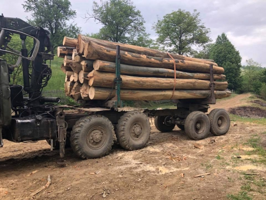 На Свалявщині селяни перекрили дорогу лісовозам
