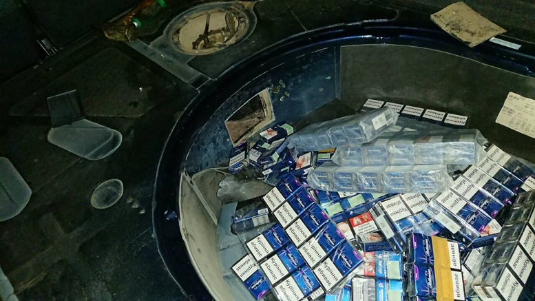 Закарпатські митники в «AUDI A6» знайшли приховані цигарки