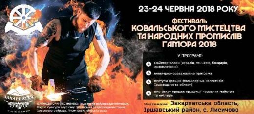 """Вже цими вихідними на Іршавщині пройде фестиваль ковальського мистецтва """"Гамора"""""""