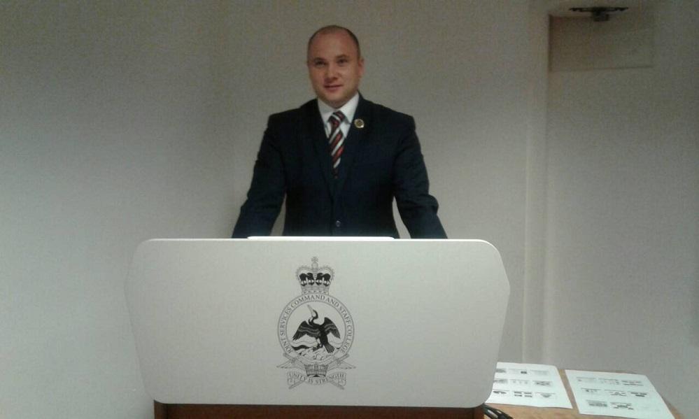 Військовий з Ужгорода у Лондоні бере участь у обговоренні спільної оборонної доктрини (фото)