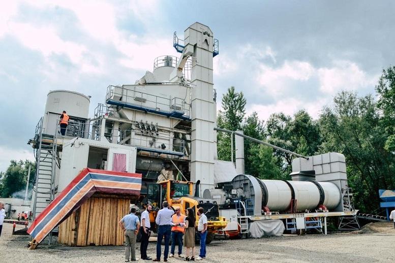 Румунська компанія відкрила на Тячівщині сучасний асфальтний завод (ФОТО)