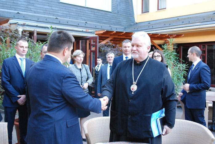 Керуючий Карпатською єпархією УАПЦ зустрівся із міністром закордонних справ України Павлом Клімкіним