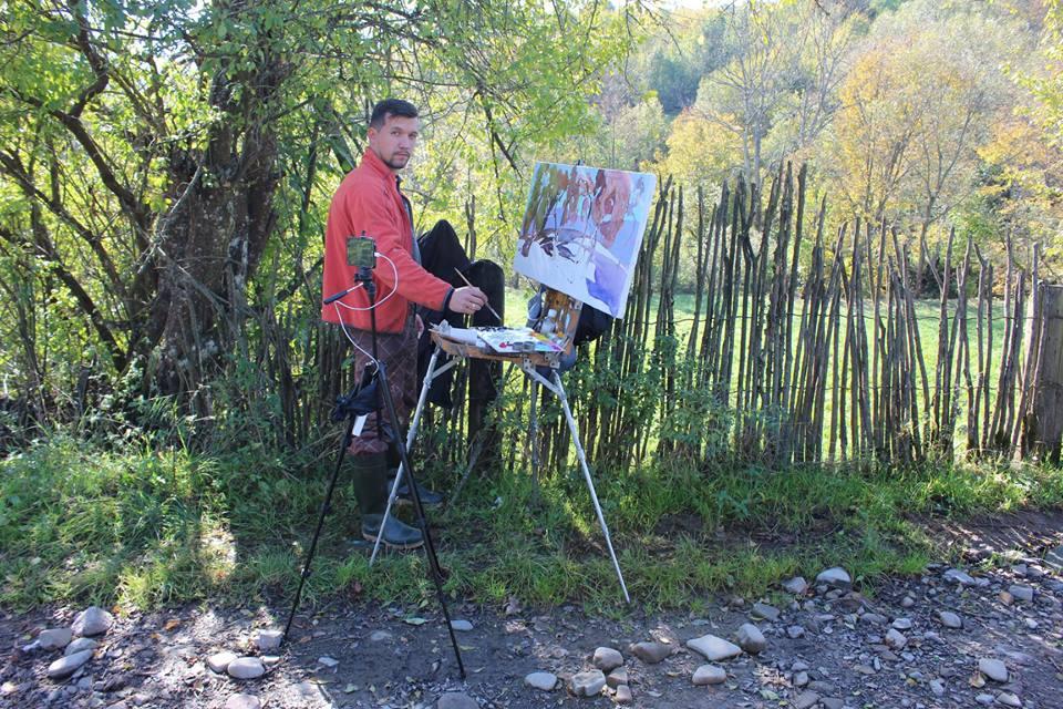 В Ужанському нацпарку проходить міжнародний осінній пленер художників (фото)