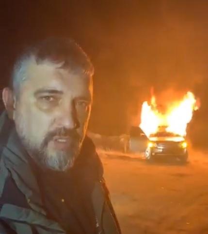 """Лідер організації євроавтовласників спалив власного джипа щоб відповісти """"за базар"""" (відео)"""