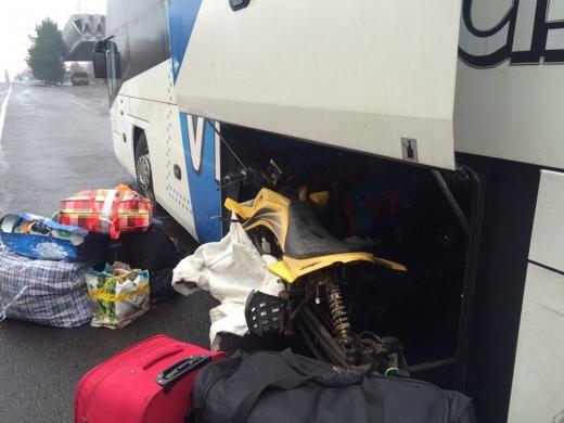 У рейсовому автобусі закарпатські прикордонники знайшли розібраний квадроцикл