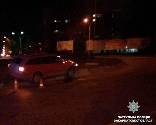 В Ужгороді за добу сталися дві ДТП з вини п'яних водіїв