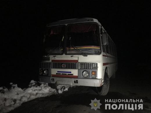 На Свалявщині п'яний чоловік викрав у односельця автобус