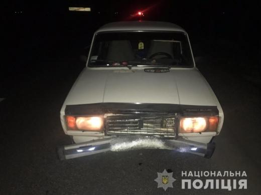 На Виноградівщині автівка насмерть збила пішохода