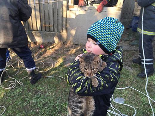 На Іршавщині рятувальники дістали кота із закинутої криниці (ФОТО)