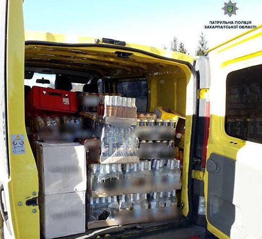 На Закарпатті зупинили авто, що перевозило алкогольні напої без відповідних документів