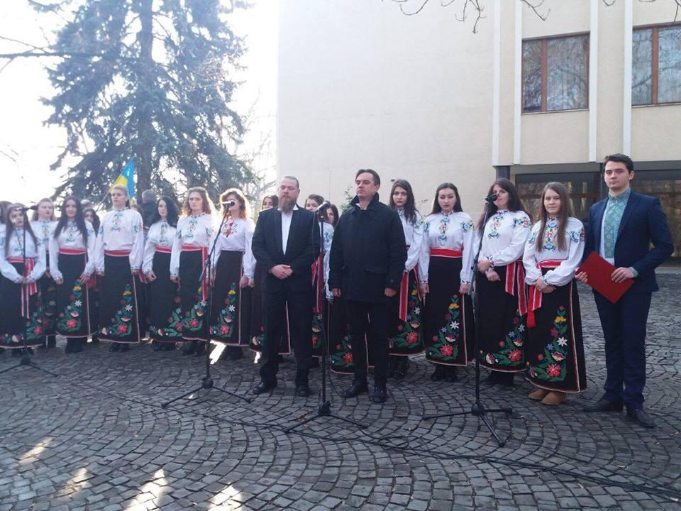 Ужгородський коледж культури і мистецтв вшанував Героїв Небесної Сотні (відео)