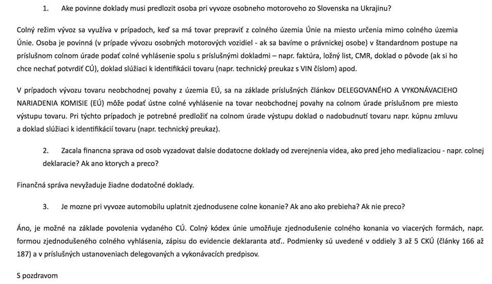 Словацькі митники незаконно вимагають певні документи на пункті пропуску Ужгород-Vyšné Nemecké