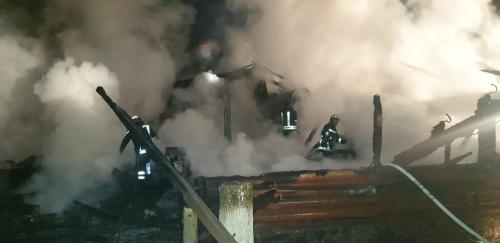 На Хустщині дощенту згорів дерев'яний ресторан