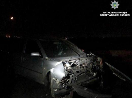 Дві автівки зіткнулися на Ужгородщині