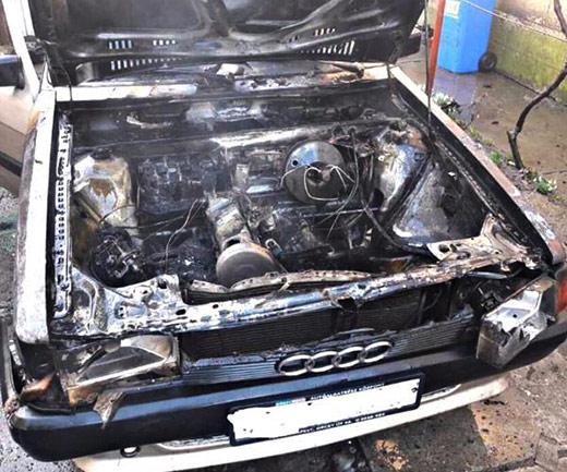 За добу на Виноградівщині згоріли дві автівки