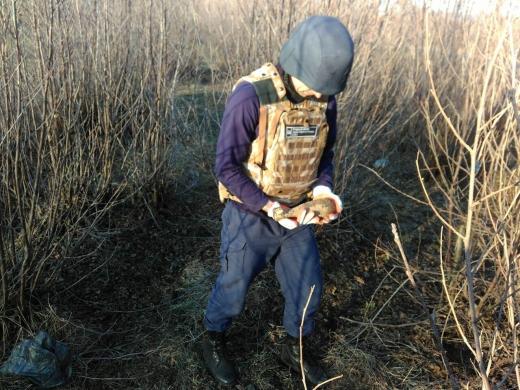 В Ужгороді знайшли дві мінометні міни
