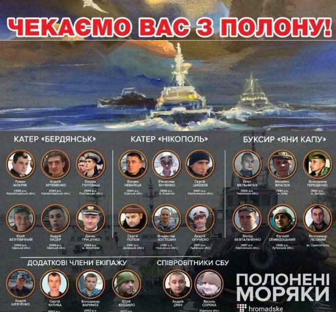 Трибунал ООН зобов'язав Росію відпустити українських моряків