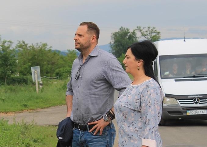 Помічник президента Андрій Єрмак здійснив робочий візит на Виноградівщину (фото)